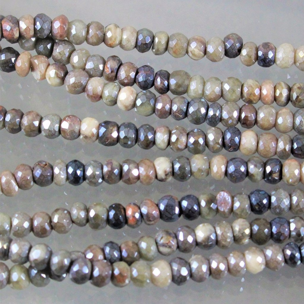Sapphires, Silverite, Faceted Beads, Opaque. Sku605 - Azillion Beads
