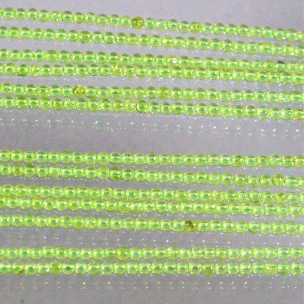 Peridot, 2.5mm Rounds Beads. Sku 394 - Azillion Beads