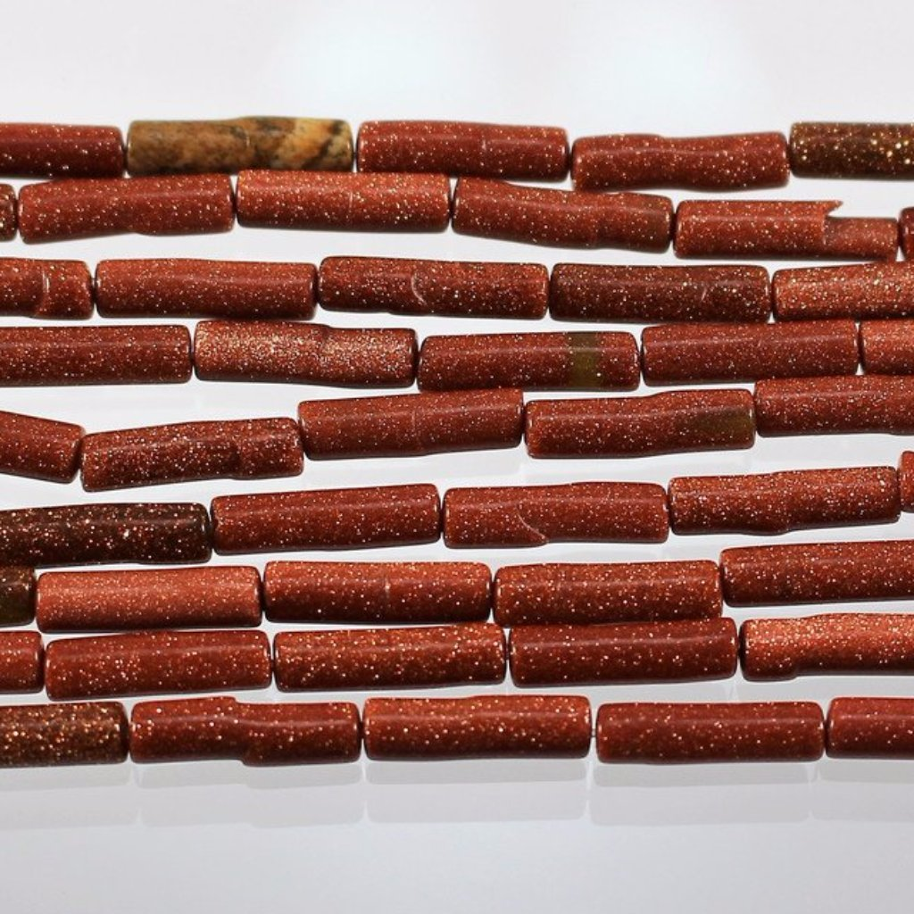 Goldstone, Tube Beads Sku W10912 CLOSEOUTS! - Azillion Beads
