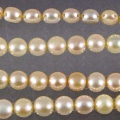 "Fresh Water Pearls, 2 Hole, 7mm x 7mm, approx.15-3/4"" strand #w1 227 - Azillion Beads"