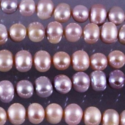 Fresh Water Pearls, Natural Mauve Color Beads. Sku W10223 CLOSEOUTS! - Azillion Beads