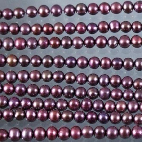 Fresh Water Pearl Beads, Magenta Dyed. Sku W10193 CLOSEOUTS! - Azillion Beads
