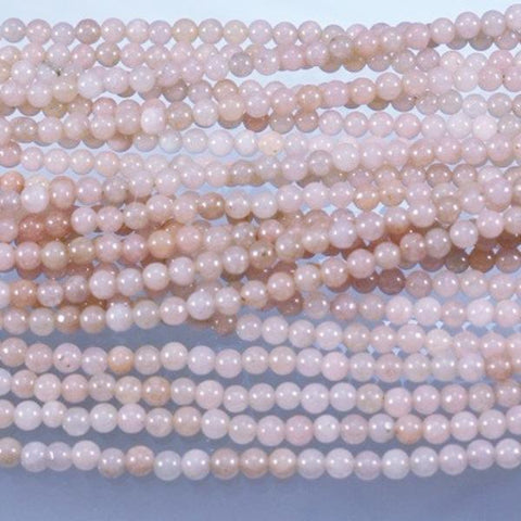 Jade Beads, Pink, Dyed, 4mm. Sku W10963 CLOSEOUTS! - Azillion Beads