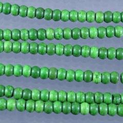 Magnesite Beads , Green Dyed, 4 x 6 mm.  Sku W10139 - Azillion Beads