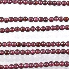 Garnet Beads, 2mm  Round Sku W11071 CLOSEOUTS! - Azillion Beads