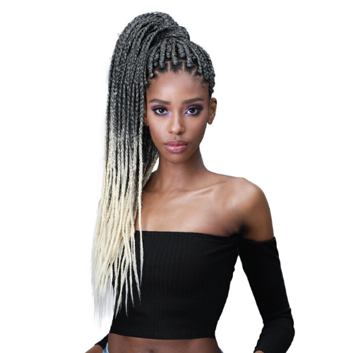"[SINGLE PACK] Jumbo Braid 54"" Feather Tip Pre-Stretched 100% Kanekalon Synthetic Crochet Hair By Bobbi Boss"