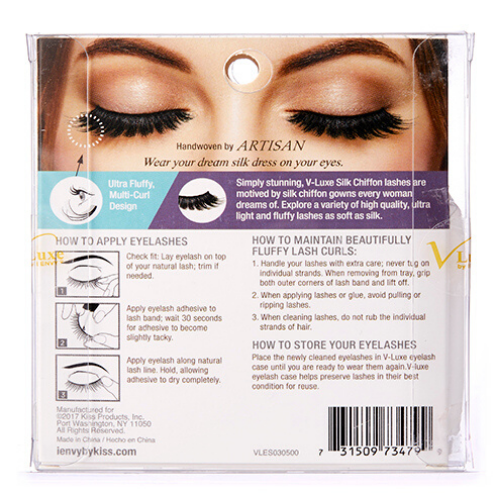I Envy - VLES03 - Trumpet V Luxe Silk Chiffon Lashes By Kiss