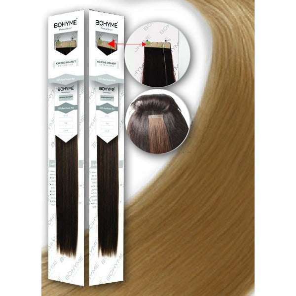 "'Tape in Extensions'-1.5"" ADHESIVE SKIN WEFT by BOHYME® 100% Remy Human Hair"