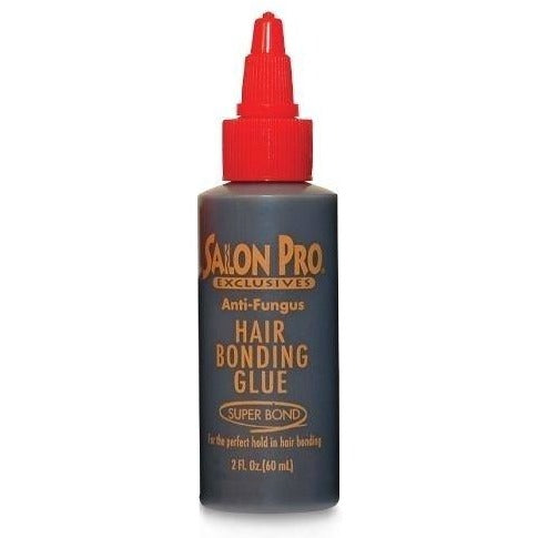 Salon Pro Black Hair Bond Weave Glue - 1 Oz, 2 Oz, 4 Oz - Waba Hair and Beauty Supply