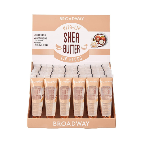 [48 PIECE] SET of Shea Butter Broadway Vita-Lip Clear Lip Gloss by Kiss