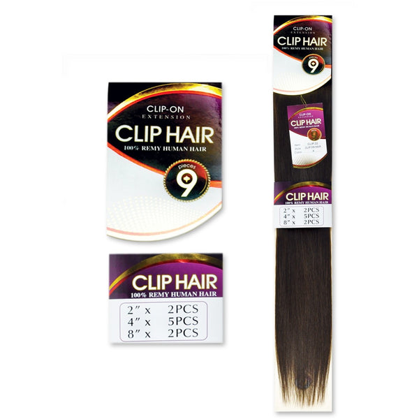 '9 Piece Clip-In Extension' 100% Remy Hair by JAZZ WAVE - Waba Hair and Beauty Supply