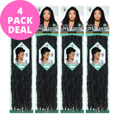 "Nu Locs 18"" Synthetic Crochet Braid Hair By Bobbi Boss (4 Packs)"