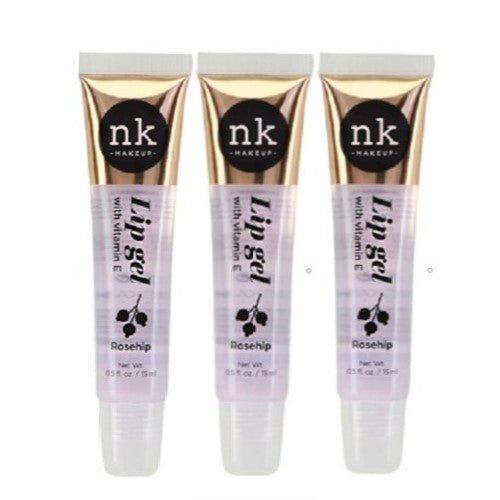 [ 3 & 6 Pack ] Lip Gel Gloss Rosehip Oil By NICKA K New York - Waba Hair and Beauty Supply