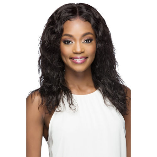 Ophelia 360 Degree 100% Remi Natural Brazilian Human Hair Lace Front Wig by Vivica A. Fox