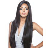 "Brown Sugar 491 - BS491 - 32"" Super Long Brown Sugar Human Hair StyleMix Whole Lace Wig By Mane Concept"