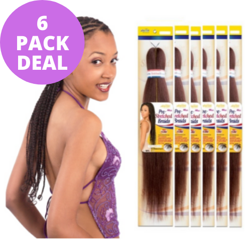 "[ 6 PACK DEAL ] 54"" Natty Pre-Stretched Braiding Hair - NPS54 Braid Amour Hair By Chade Fashion"