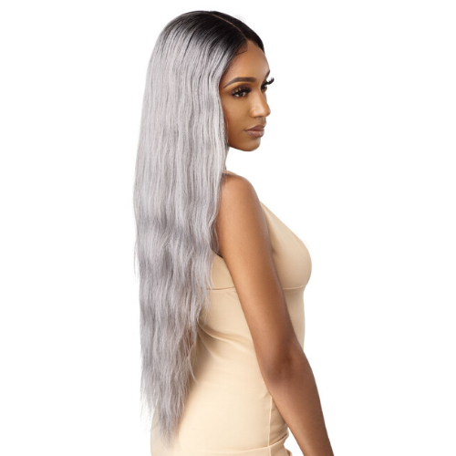 "Leilani 32"" Synthetic Swiss Lace Front Wig by Outre"