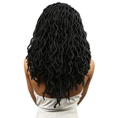 "Amour Natty 16"" Goddess Dreadlocks Loose Wavy Crochet Braid Hair By Chade - Waba Hair and Beauty Supply"
