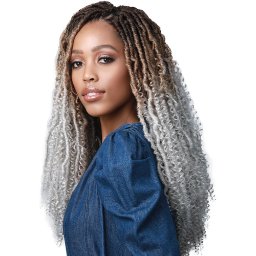 "18"" Nu Locs Water Boho African Roots Synthetic Crochet Braid Hair By Bobbi Boss - Waba Hair and Beauty Supply"