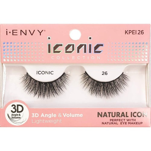 I Envy - KPEI26 - 3D Iconic Collection Natural 3D Lashes By Kiss - Waba Hair and Beauty Supply