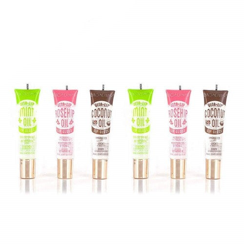 [ 6 PC ] SET Broadway Vita-Lip Clear Lip Gloss (Mint, Coconut, RoseHip) 0.47oz/14ml by Kiss - Waba Hair and Beauty Supply