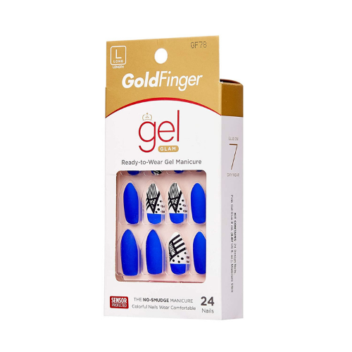 Gel Glam Ready-To-Wear Press On Nails - GF78 - By Kiss