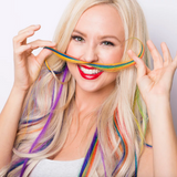 "18"" Clip & Go Clip-In Rainbow Hair Extension (1 Piece) By Hair Couture"