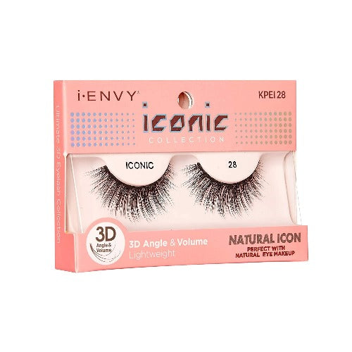 I Envy - KPEI28 - 3D Iconic Collection Natural 3D Lashes By Kiss - Waba Hair and Beauty Supply