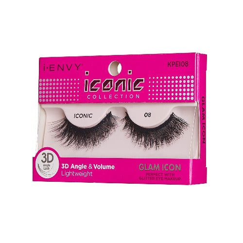 I Envy - KPEI08 - 3D Iconic Collection Glam 3D Lashes By Kiss - Waba Hair and Beauty Supply