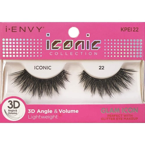 I Envy - KPEI22 - 3D Iconic Collection Glam 3D Lashes By Kiss - Waba Hair and Beauty Supply