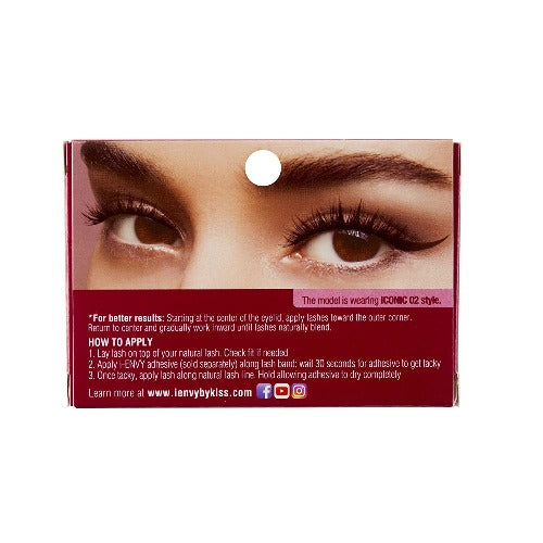 I Envy - KPEI02 - 3D Iconic Collection Chic 3D Lashes By Kiss - Waba Hair and Beauty Supply