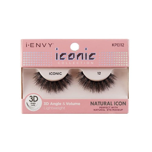 I Envy - KPEI12 - 3D Iconic Collection Natural 3D Lashes By Kiss - Waba Hair and Beauty Supply