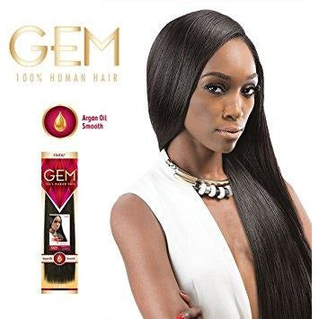 Gem - Argan Infused Yaki 100% Human Weave Hair Extensions By Outre - Waba Hair and Beauty Supply