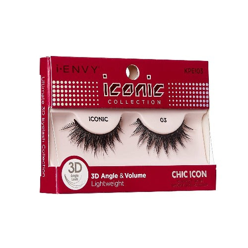 I Envy - KPEI03 - 3D Iconic Collection Chic 3D Lashes By Kiss - Waba Hair and Beauty Supply
