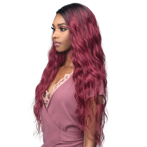Lisa - MLF403 - Wondersleek Optimized Silky Yaki Fiber Lace Front Wig by Bobbi Boss