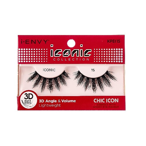 I Envy - KPEI15 - 3D Iconic Collection Chic 3D Lashes By Kiss - Waba Hair and Beauty Supply