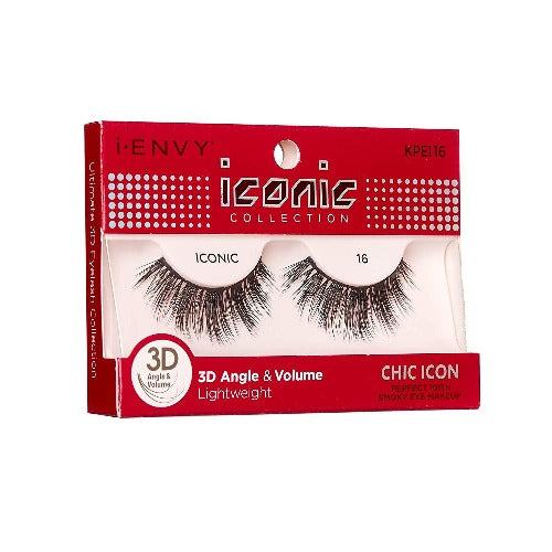 I Envy - KPEI16 - 3D Iconic Collection Chic 3D Lashes By Kiss - Waba Hair and Beauty Supply