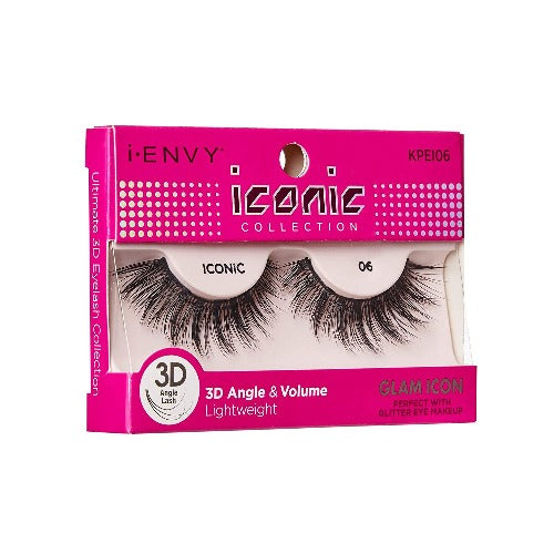 I Envy - KPEI06 - 3D Iconic Collection Glam 3D Lashes By Kiss - Waba Hair and Beauty Supply