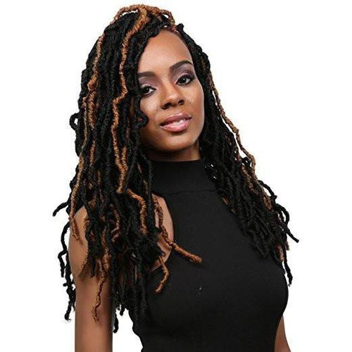 "Nu Locs 18"" Synthetic Braid Crochet Hair by Bobbi Boss (6 Packs)"