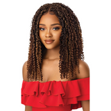 "18"" Xpression Boho Passion Waterwave 4x4 Lace Front Braid Wig by Outre"