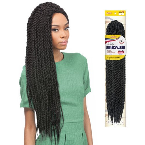 "Amour Natty 22"" Senegalese Twist Crochet NSTC22 Braid Hair By Chade Fashions - Waba Hair and Beauty Supply"