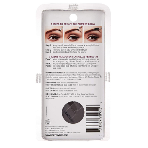 I Envy All-In-One Eyebrow Pomade - KBPM - By Kiss - Waba Hair and Beauty Supply