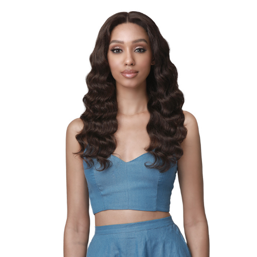 Nahla - MHLF516 - 100% Unprocessed Human Hair Bundle Hair Lace Front Wig by Bobbi Boss