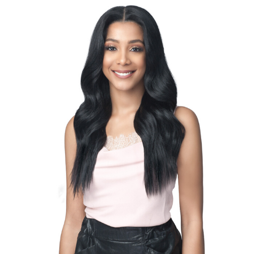 "Evangeline - MLF457 - 13"" X 7"" Extended Lace Frontal Glueless Pre Plucked Wig by Bobbi Boss"