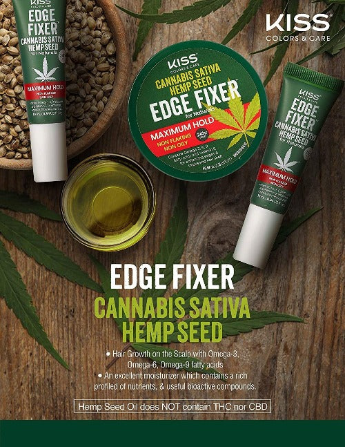 Cannabis Sativa Hemp Edge Fixer by Kiss - Waba Hair and Beauty Supply