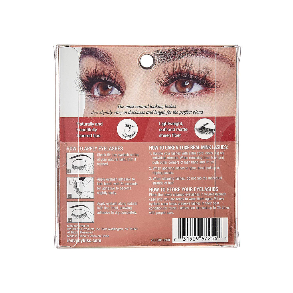 V-Luxe I Envy - VLEC01 Rose or Gold - 100% Virgin Remy Real Mink Lashes By Kiss - Waba Hair and Beauty Supply