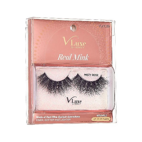 V-Luxe I Envy - VLEC09 Misty Rose - 100% Virgin Remy Real Mink Lashes By Kiss - Waba Hair and Beauty Supply
