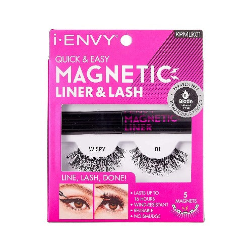 I Envy - KPMLK01 - Magnetic Eyeliner Kit and Lashes By Kiss - Waba Hair and Beauty Supply
