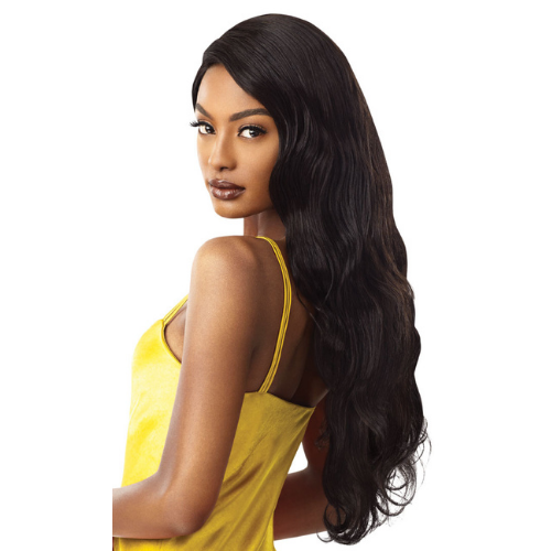 "28"" Natural Wave MyTresses 100% Unprocessed Human Hair Virgin Remi Gold Label Lace Front Wig by Outre"