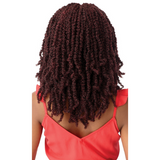 "18"" Xpression Wavy Bomb Twist 4x4 Lace Front Braid Wig By Outre"